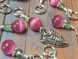 Running Shoe Stitch Marker Set , Stitch Markers - Jill's Beaded Knit Bits, Jill's Beaded Knit Bits  - 2