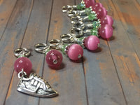 Running Shoe Stitch Marker Set , Stitch Markers - Jill's Beaded Knit Bits, Jill's Beaded Knit Bits  - 6