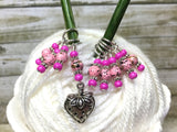 Strawberry Stitch Marker Set- 9 Pieces- Knitting Gift , stitch markers - Jill's Beaded Knit Bits, Jill's Beaded Knit Bits  - 5