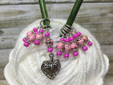 Strawberry Stitch Marker Set- 9 Pieces- Knitting Gift , stitch markers - Jill's Beaded Knit Bits, Jill's Beaded Knit Bits  - 4