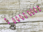 Strawberry Stitch Marker Set- 9 Pieces- Knitting Gift , stitch markers - Jill's Beaded Knit Bits, Jill's Beaded Knit Bits  - 7