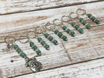 Rotary Telephone Stitch Marker Set- 9 Pieces , Stitch Markers - Jill's Beaded Knit Bits, Jill's Beaded Knit Bits  - 1