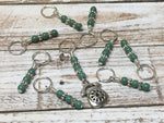 Rotary Dial Antique Telephone Stitch Marker Set , Stitch Markers - Jill's Beaded Knit Bits, Jill's Beaded Knit Bits  - 1