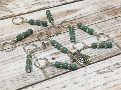 Rotary Dial Antique Telephone Stitch Marker Set , Stitch Markers - Jill's Beaded Knit Bits, Jill's Beaded Knit Bits  - 3