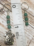 Rotary Telephone Stitch Marker Set- 9 Pieces , Stitch Markers - Jill's Beaded Knit Bits, Jill's Beaded Knit Bits  - 7