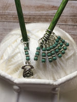 Rotary Telephone Stitch Marker Set- 9 Pieces , Stitch Markers - Jill's Beaded Knit Bits, Jill's Beaded Knit Bits  - 8