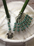 Rotary Telephone Stitch Marker Set- 9 Pieces , Stitch Markers - Jill's Beaded Knit Bits, Jill's Beaded Knit Bits  - 9