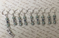 Trumpet Stitch Marker Set For Music Lovers , Stitch Markers - Jill's Beaded Knit Bits, Jill's Beaded Knit Bits  - 3