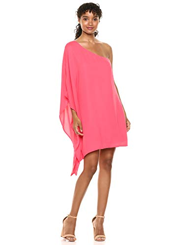 Women Cupcakes and Cashmere  Deliz Crepe, One Shoulder Cape Sleeve Dress (Shop From Amazon):