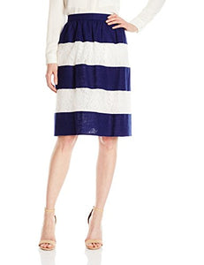 Amazon Brand - Lark & Ro Women's Lace and Linen Stripe Skirt:(Shop From Amazon)