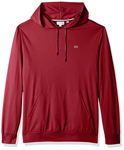 Lacoste Men's Long Sleeve Jersey Hoodie Tee with Central Pocket, TH9349 (Shop From Amazon)