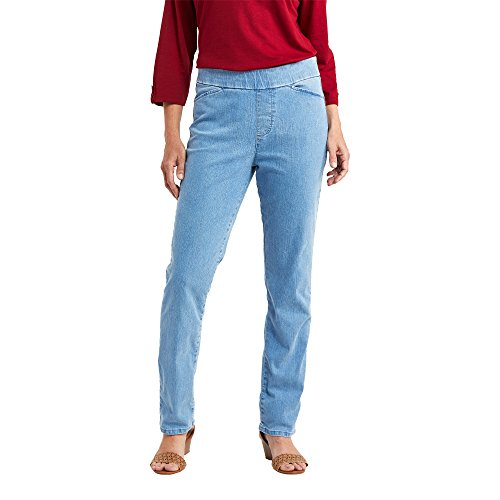 Chic Classic Collection Women's Easy-Fit Elastic-Waist Pants at Amazon Women's Clothing (Shop From Amazon)