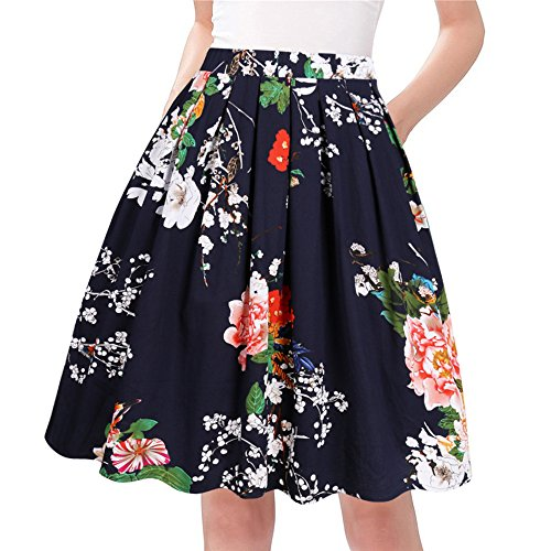 Amazon.com: Taydey A-Line Pleated Vintage Skirts for Women (Shop From Amazon)