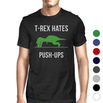 """T-Rex Push Up""  Comical Lightweight Cotton T-Shirt, 7 Colors"
