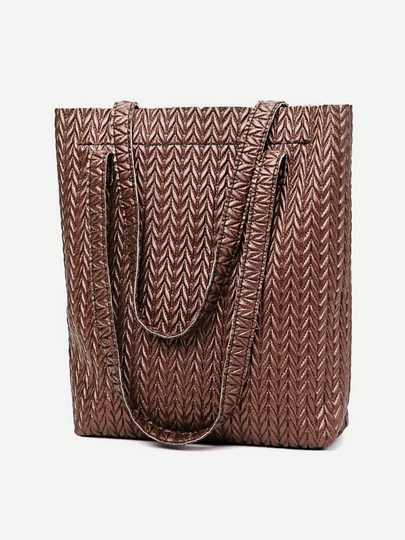 Chevron Textured Combination Bag 3pcs