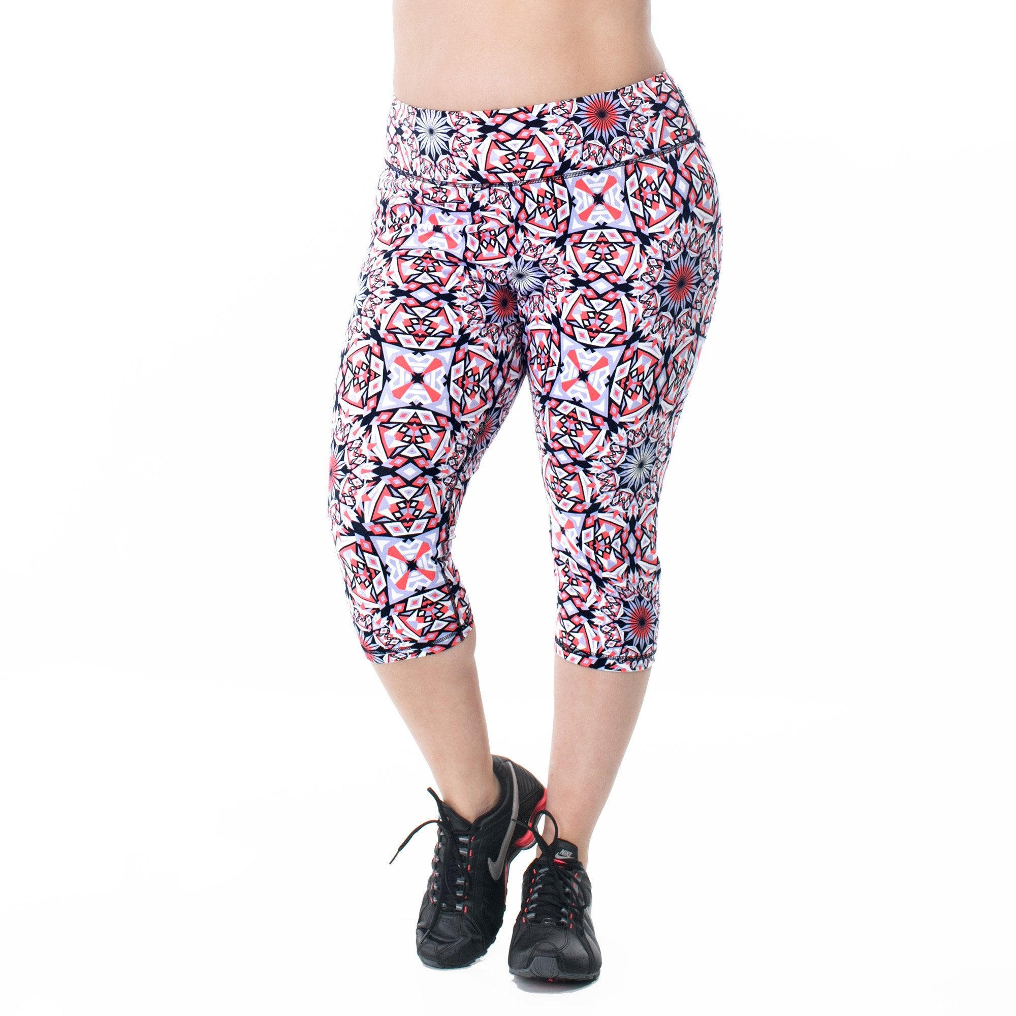 Courtney Fitted Print Capri Pants (Tights)