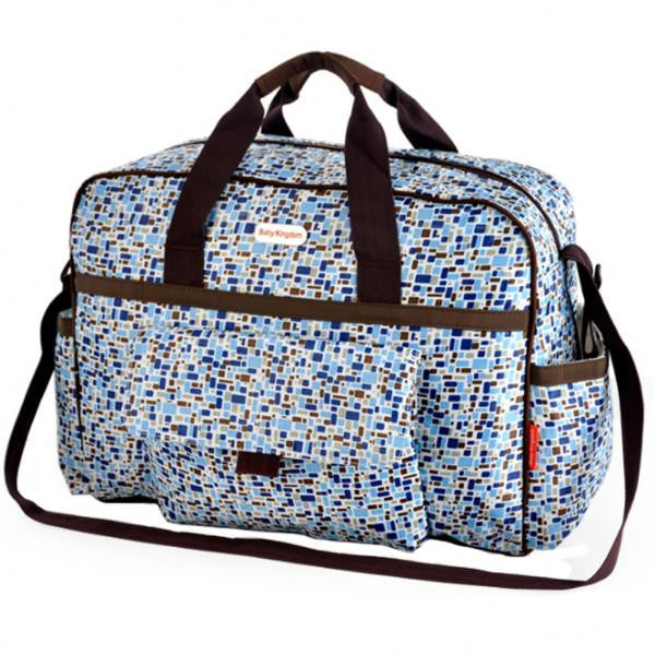 Colorful Large Capacity Functional Diaper Bag - Blue (43*16*33cm)