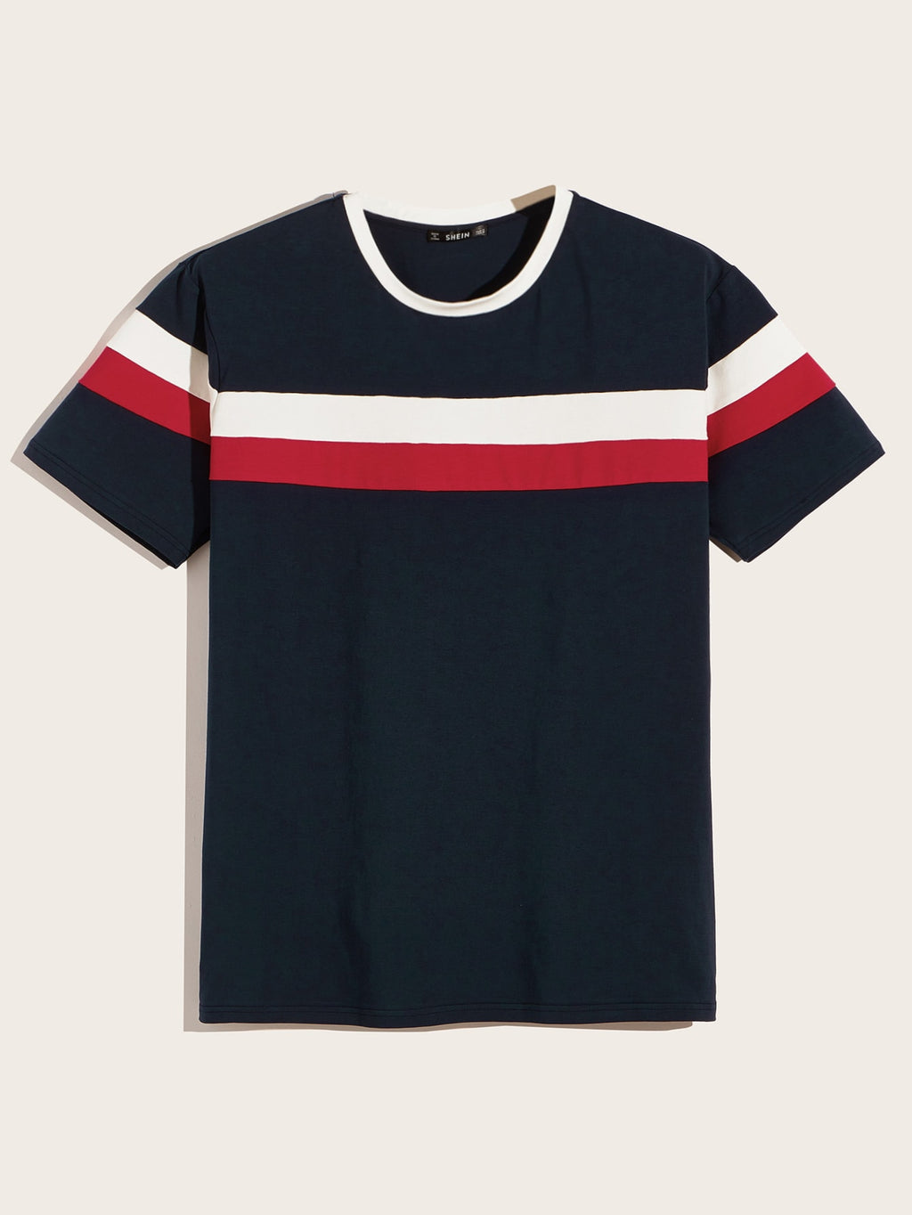 Men Color Block Tee