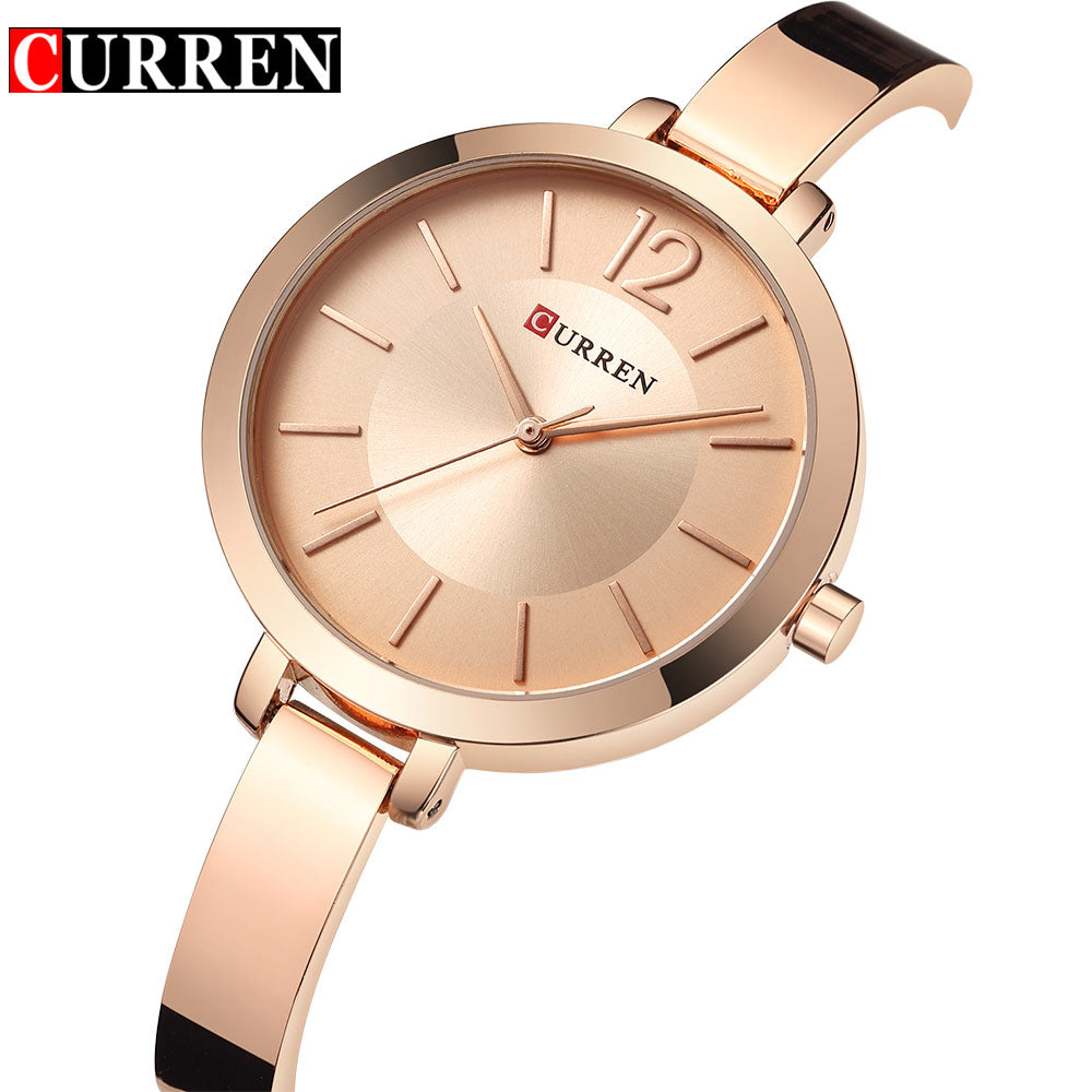 Woman's  Luxury Steel Bracelet Quartz-Watch for Casual or Dressy Attire