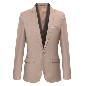 HEE BRAND  Single Button 6 Colors Solid Hight Quality Mens Blazers Jacket Men Size S~4XL