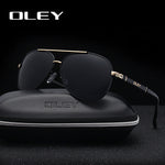 OLEY Brand Men/Women Polarized, Fashionable, Classic Pilot Sunglasses, i.e., Fishing, Driving,  Goggles Shades