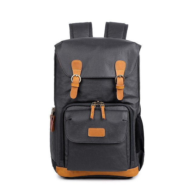 Professional Backpack Durable Shoulder Canvas Waterproof DSLR Camera, Tripod and 15 in.Laptop Case