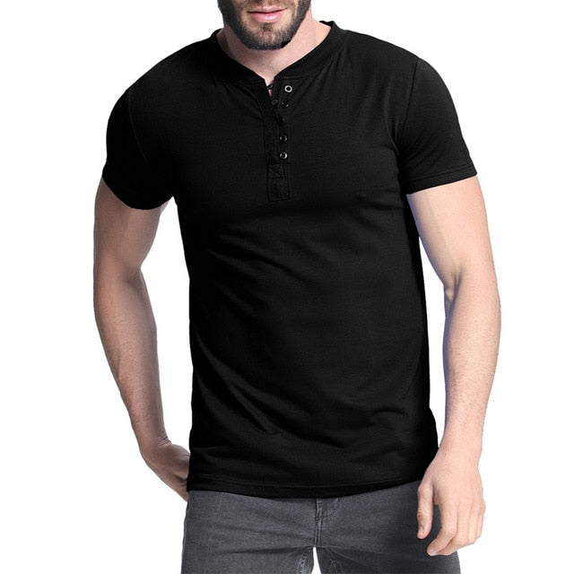 Men's Henley T-Shirts Henley for Casual Wear (S-3XL)