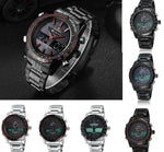Men Analog Style Classic Quartz Sport LED Sport Digital Waterproof Wristwatch