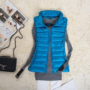 Women Gilet Ultra Light Down Vests Jacket With Carry Bag Lightweight Windproof Warm Sleeveless