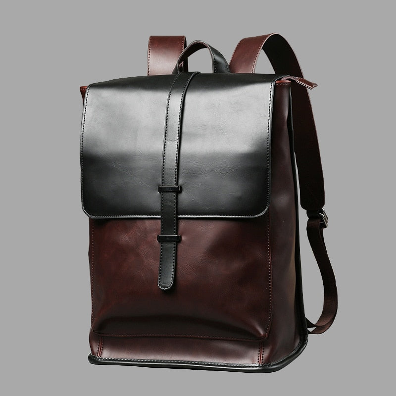 Vintage Men (Teenagers)  Casual Leather Laptop Retro Backpacks, Leisure Bag, for School, etc
