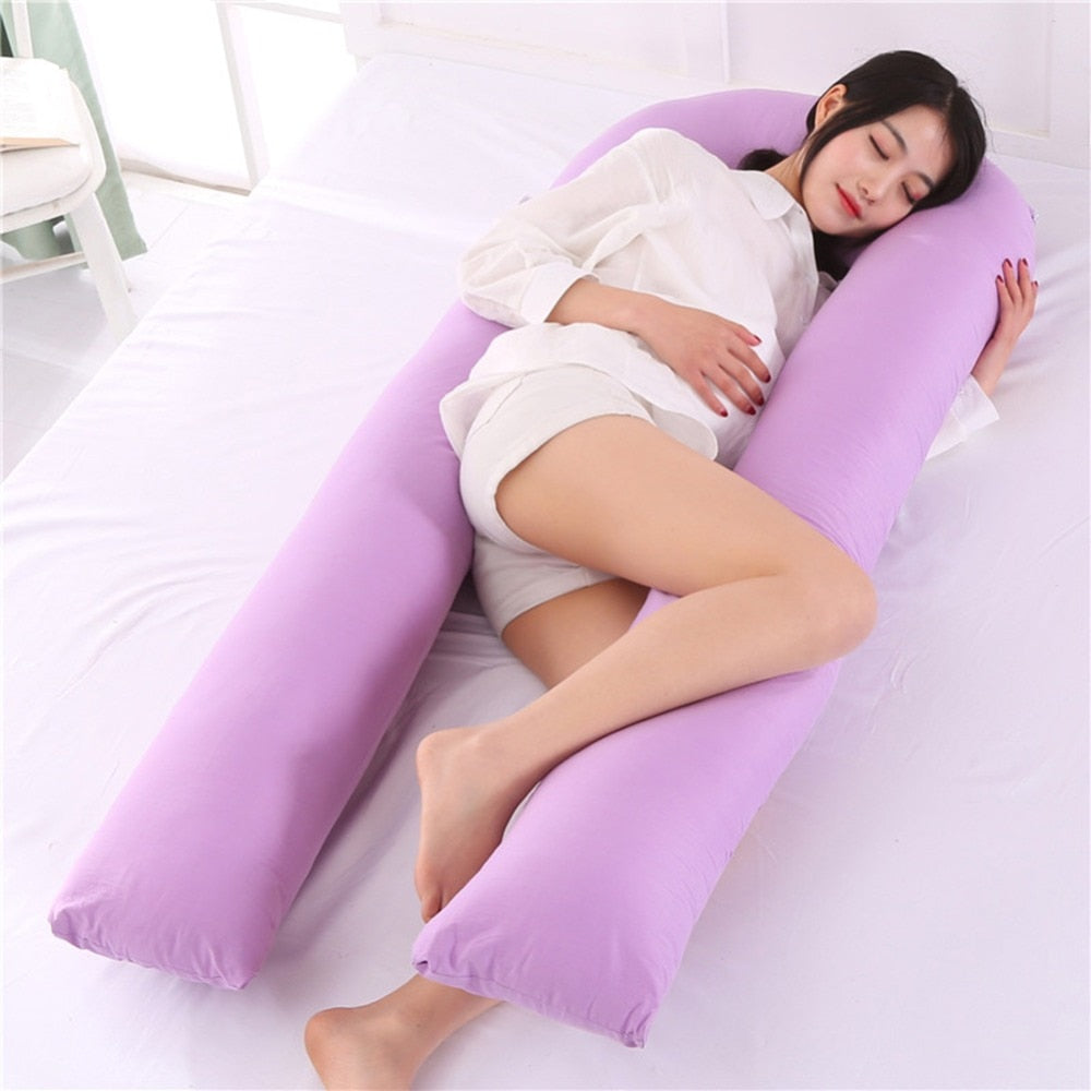 U-Shape Pregnancy Pillow for Side Sleeping Support, Long Cushion ...