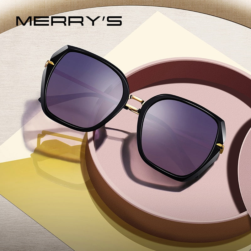 MERRY'S DESIGN Women Vintage Cat Eye Polarized Luxury Brand Trending Sun Glasses,  UV400 Protection