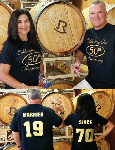 MARRIED SINCE  50th ANNIVERSARY 1970 Couples T-Shirts, set of 2 Matching Tees
