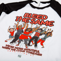 Bleed The Same Ladies Baseball Tee - MandisaOfficial