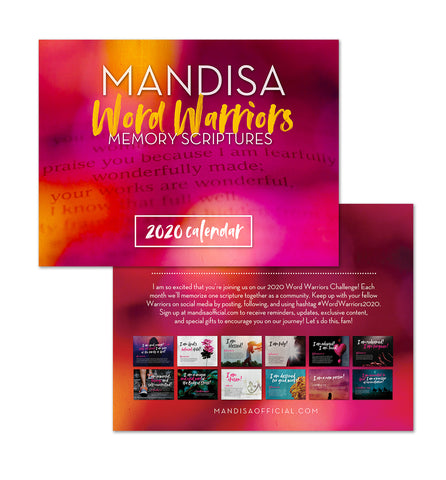 2020 Word Warriors Calendar - MandisaOfficial