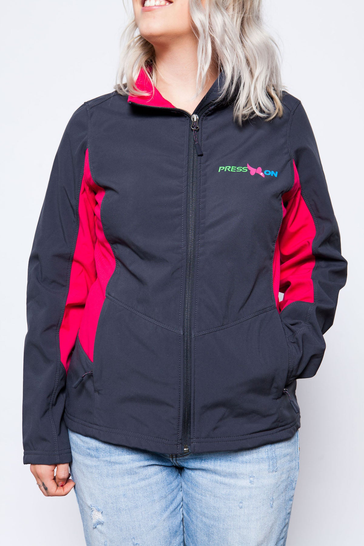 Press-On Ladies Core Colorblock Soft Shell Jacket - MandisaOfficial