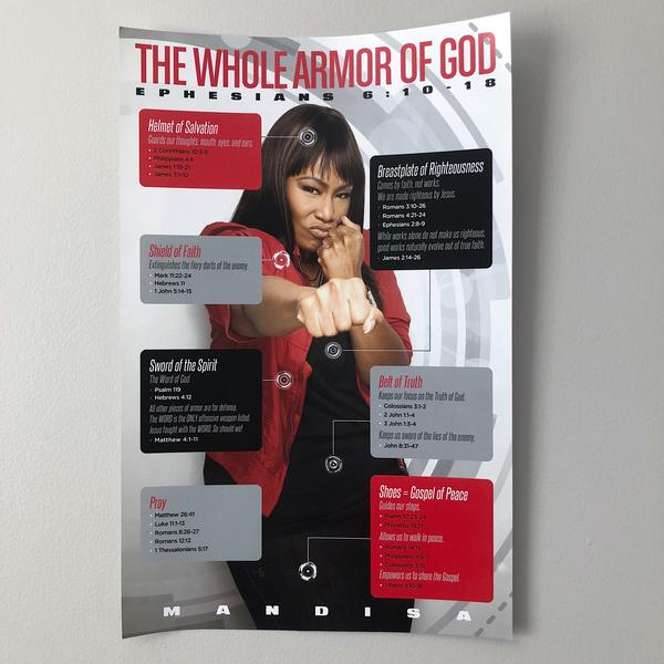Mandisa The Whole Armor Of God 11x17 Poster