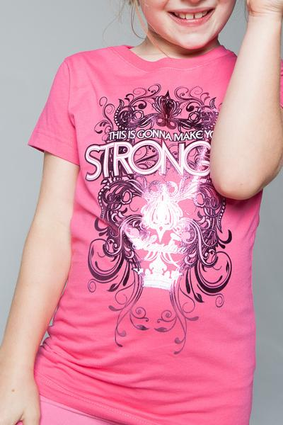 Pink Stronger Youth Tee - YOUTH - MandisaOfficial