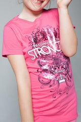 Pink Stronger Tee - YOUTH - MandisaOfficial
