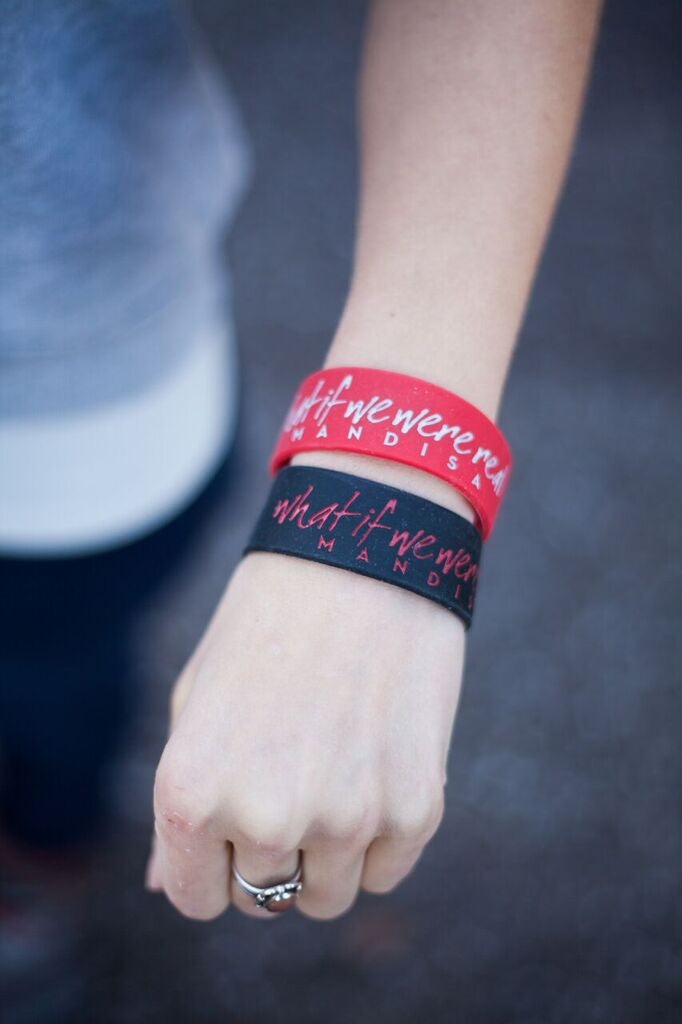 "Mandisa ""What if we were real"" Silicone Bracelet Red"