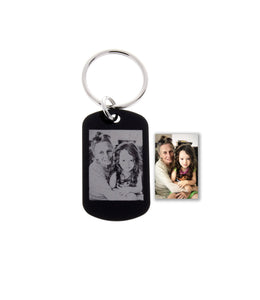 Photograph Engraved Keychains