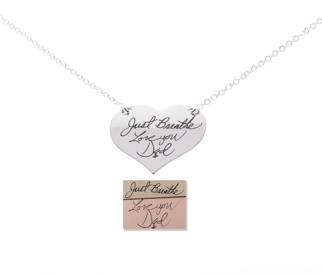 Handwriting Necklaces