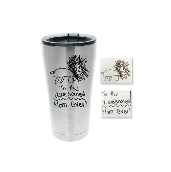 Handwriting Stainless Steel Tumbler
