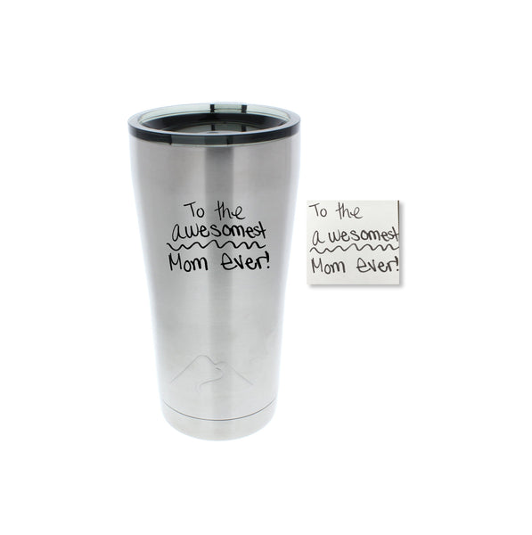 Handwriting or Drawing Stainless Steel Tumbler