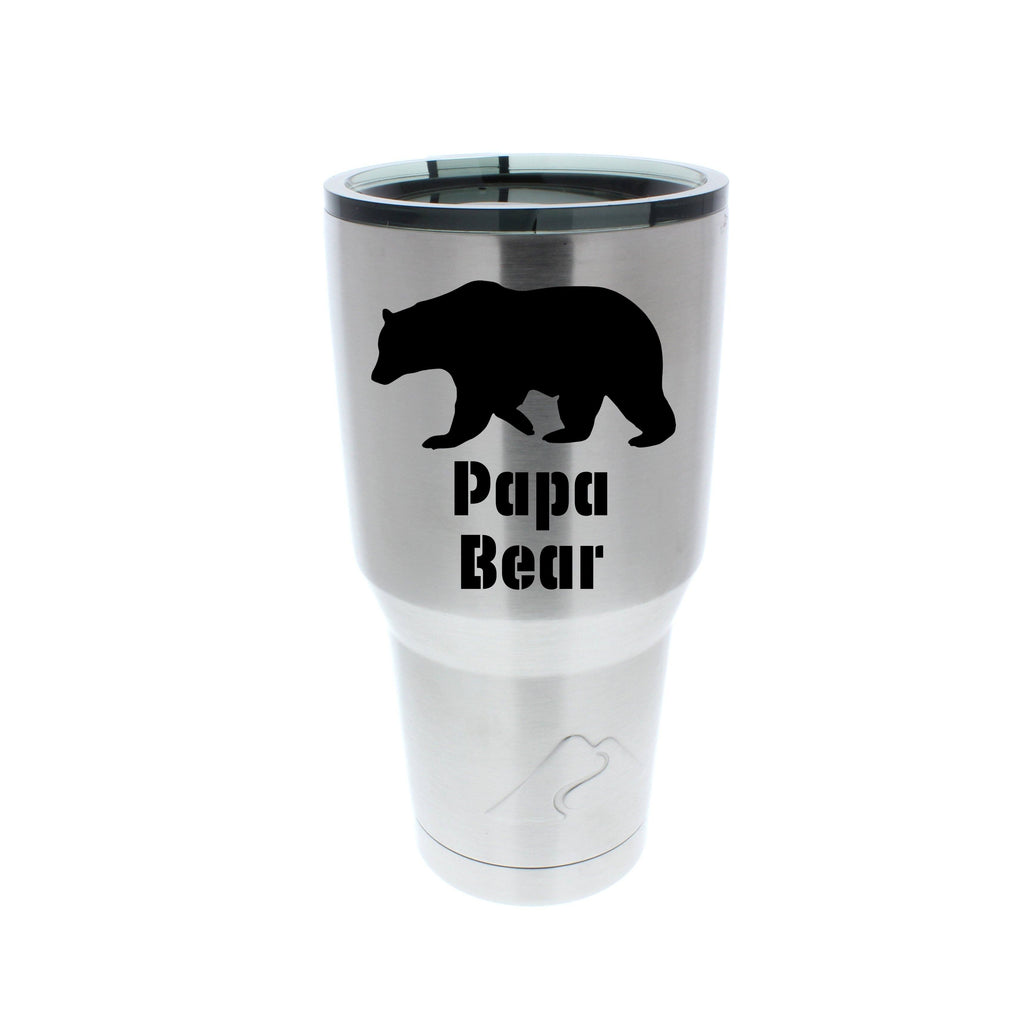 Papa Bear Stainless Steel Tumbler Anomaly Creations