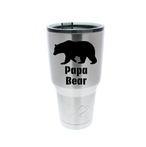 Papa Bear Stainless Steel Tumbler