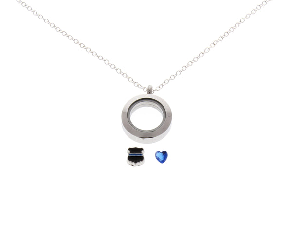 police officer floating locket necklace police wife