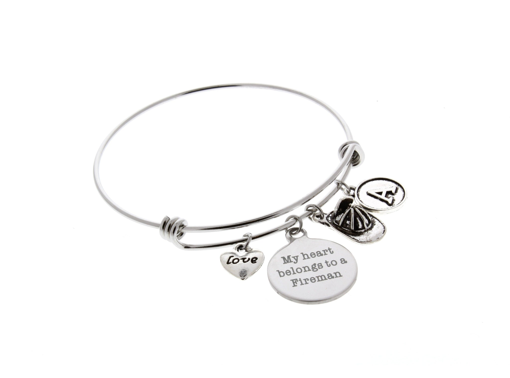 Firefighter Bangle Bracelet