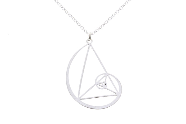 Golden Ratio Necklace with Initial Charm