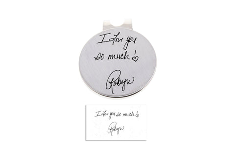 Custom Golf Ball Marker- Handwriting